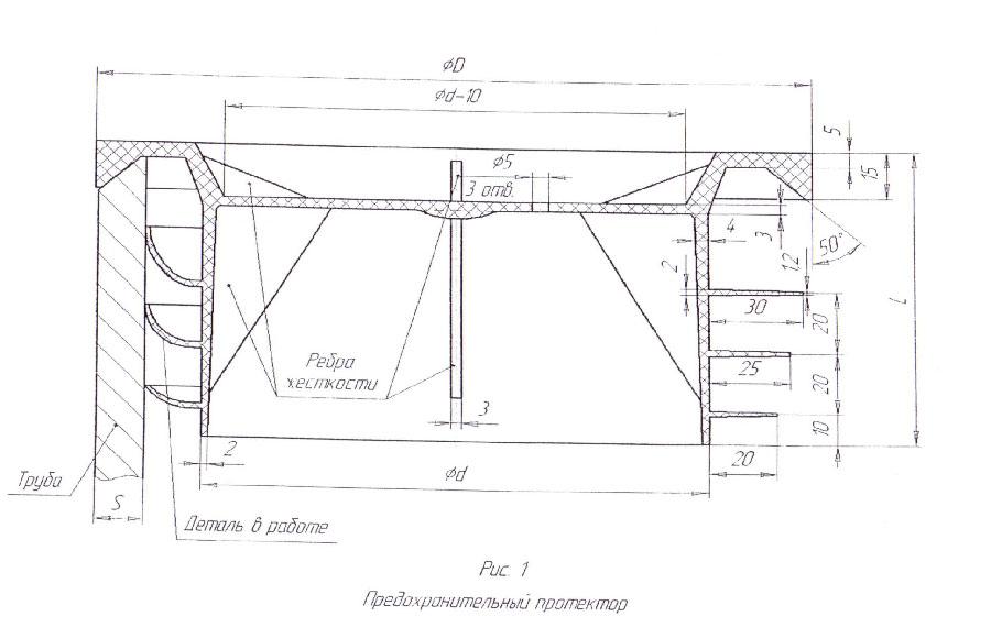 «Внутренние протекторы из полиэтилена для защиты концов гладких труб различных диаметров от повреждений